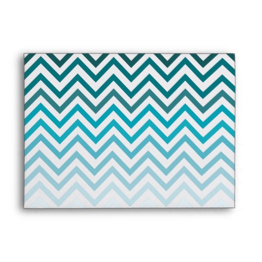 Ombre Chevron Blue Zig Zag 5x7 Envelope Zazzle 512x512