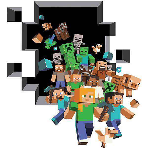 Minecraft Room Stickers for Pinterest 600x600