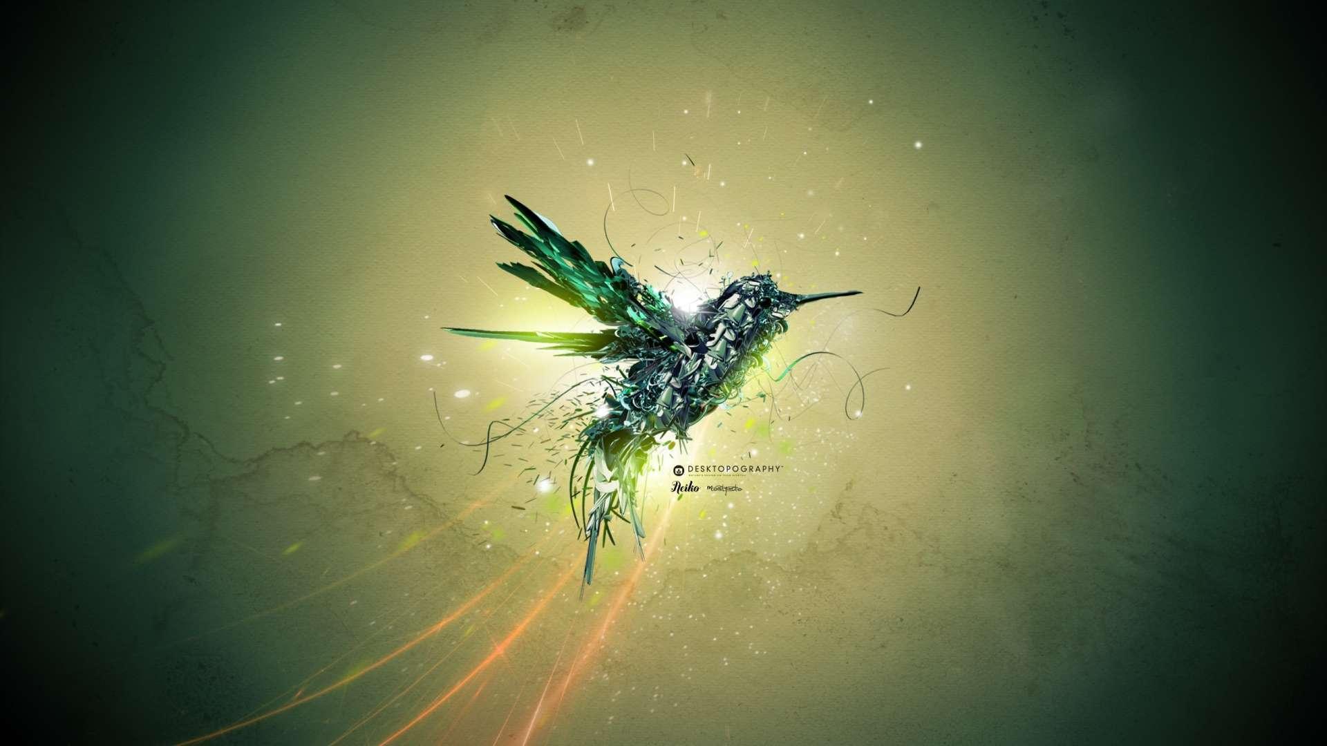 Wallpaper Green Bird Flight Hd Wallpaper 1080p Upload at March 8 1920x1080