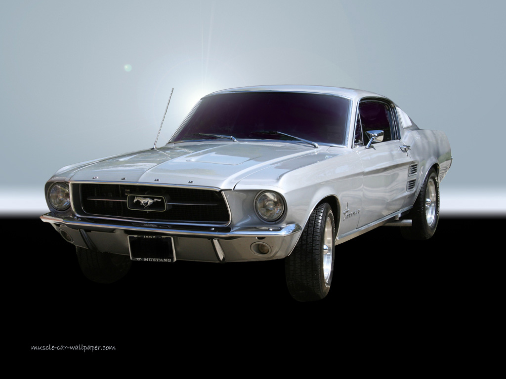 1967 Mustang Wallpaper   White 1024x768