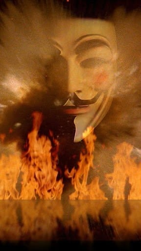 Unofficial Anonymous Live Wallpaper HD Guy Fawkes Mask Donation  NO 288x512