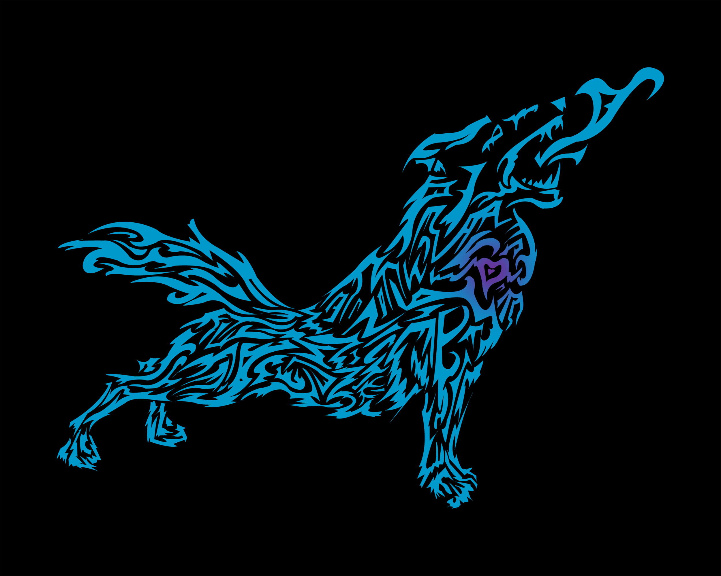 Tribal Wolf Wallpaper - WallpaperSafari