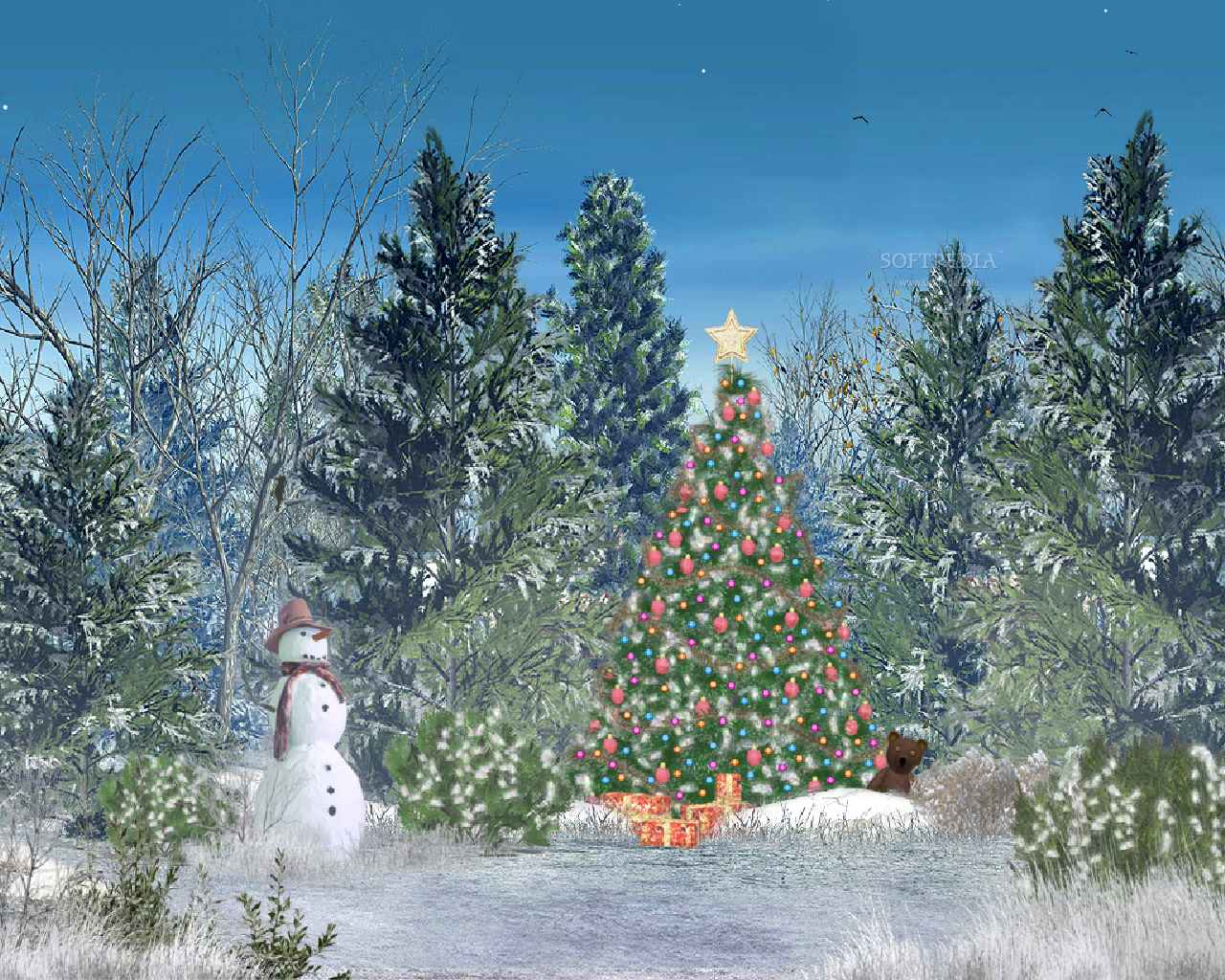 free animated snowy christmas wallpaper - wallpapersafari