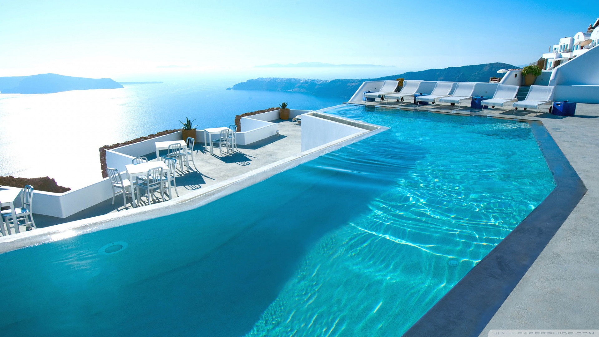 Santorini Hotels HD Wallpaper Background Images 1920x1080
