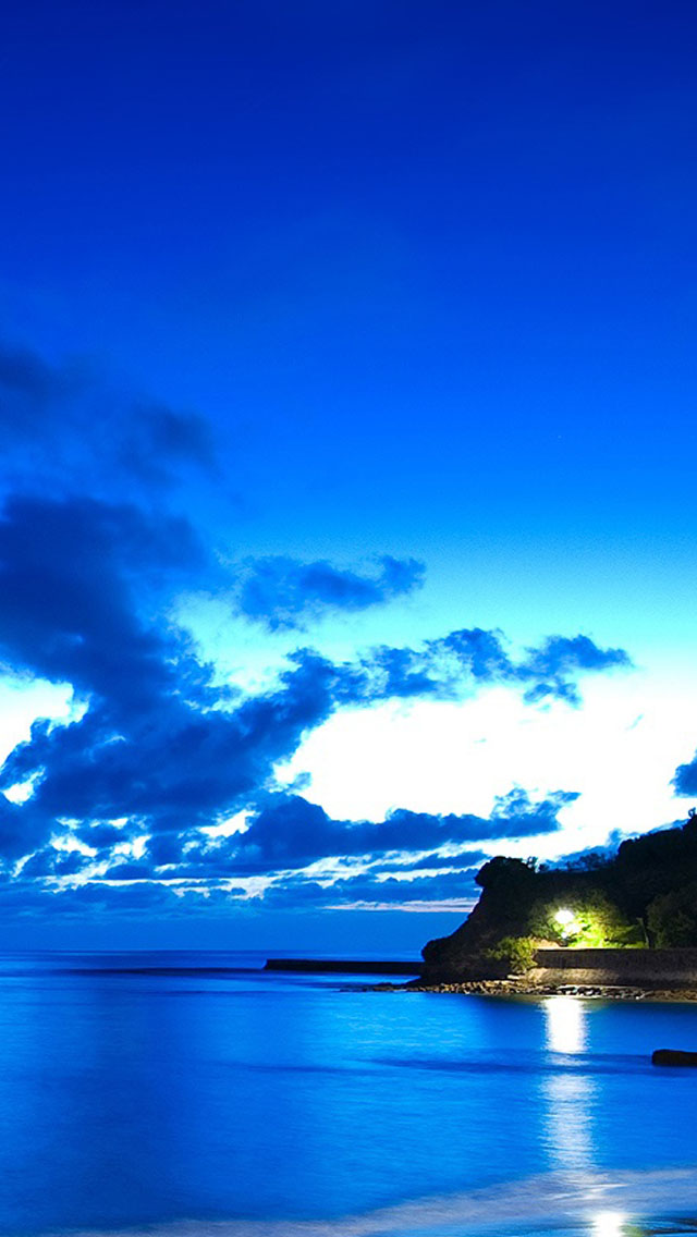 Blue Ocean Beach Wallpaper   iPhone Wallpapers 640x1136