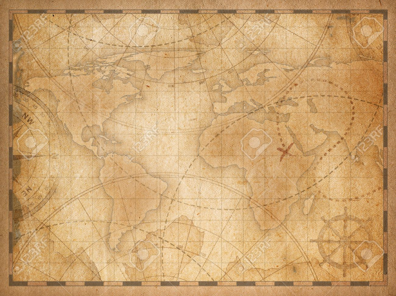 Old World Map Background Stock Photo Picture And Royalty 1300x973