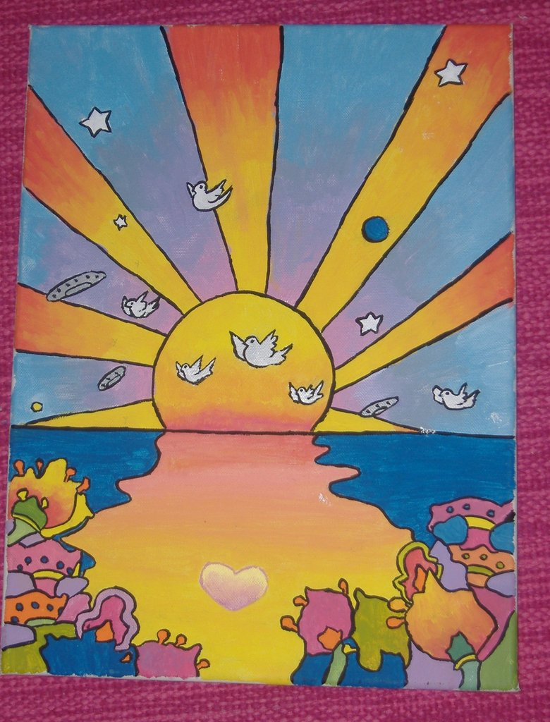 Peter Max Painting by AayaAnime 780x1024