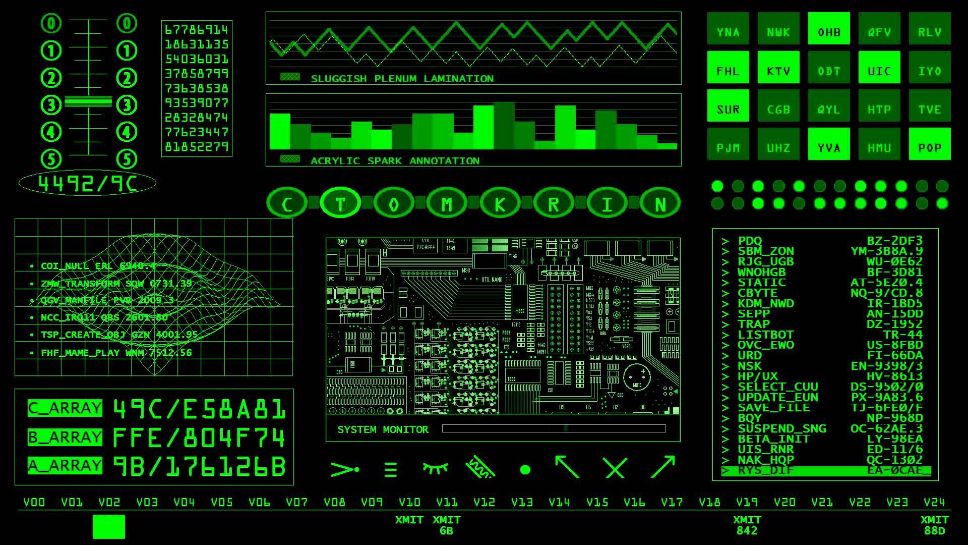 Retro Sci Fi Screensaver 1920x1080