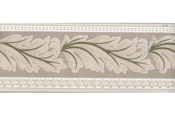 Home Brown Running Floral Wallpaper Border 600x400
