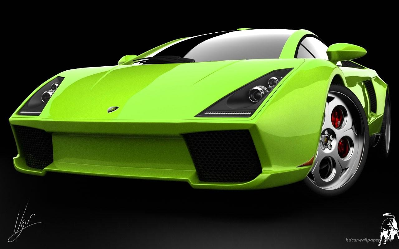 Free Download Lamborghini Green Concept Wallpapers Hd