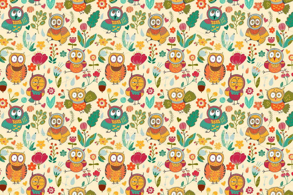 cute owl backgrounds wallpapersafari