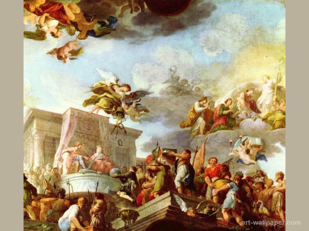 Christopher Columbus presents the Catholic Majesties the New World 1024x768