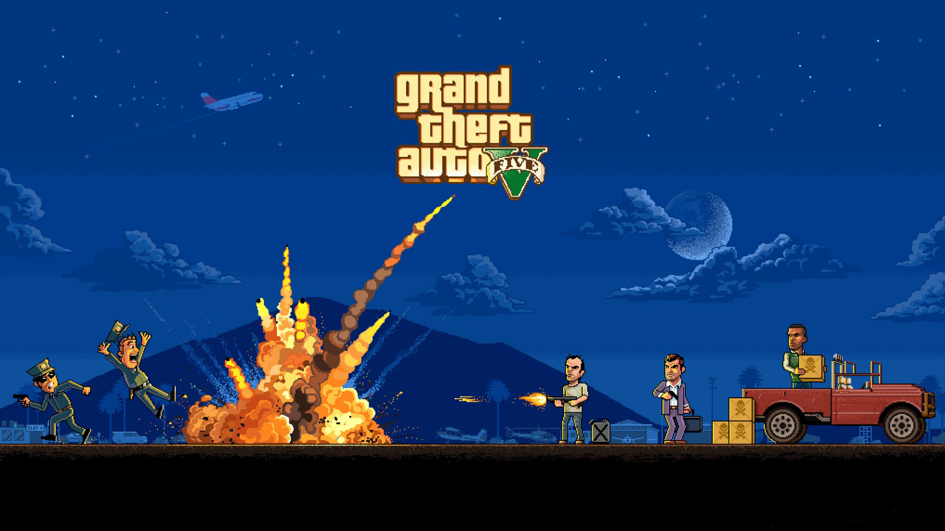 GTA V PC release waiting I will be posting a lot of cool GTA related 1920x1080