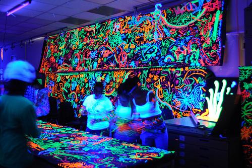 Black Light Party Wallpaper Wallpapersafari