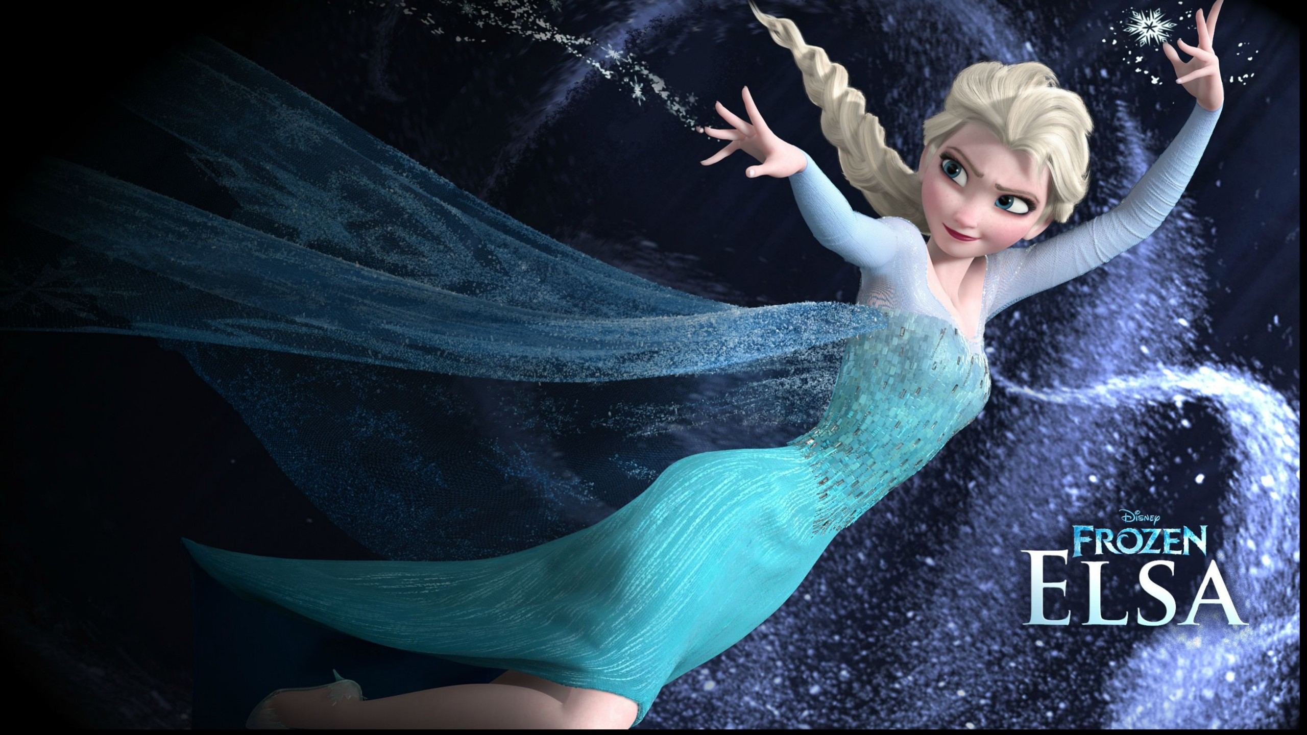 Queen Elsa From Disney Frozen Movie Wallpaper 2572 Frenziacom Pictures 2560x1440