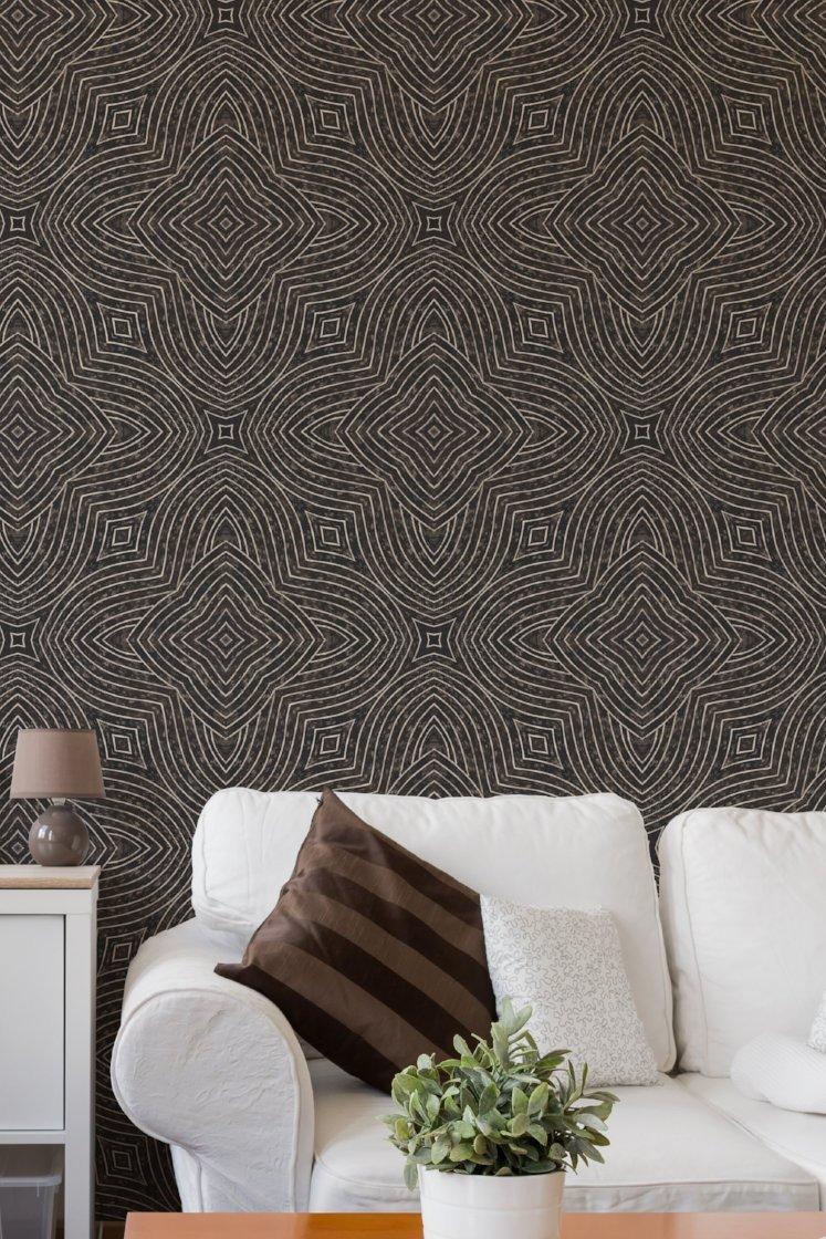 Arbor Quad Wallpaper   ABRA 2018 Collection Mitchell Black Home 747x1120