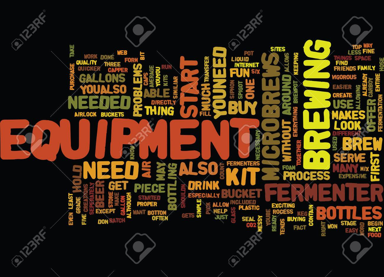 EQUIPMENT FOR MICROBREWS Text Background Word Cloud Concept 1300x938