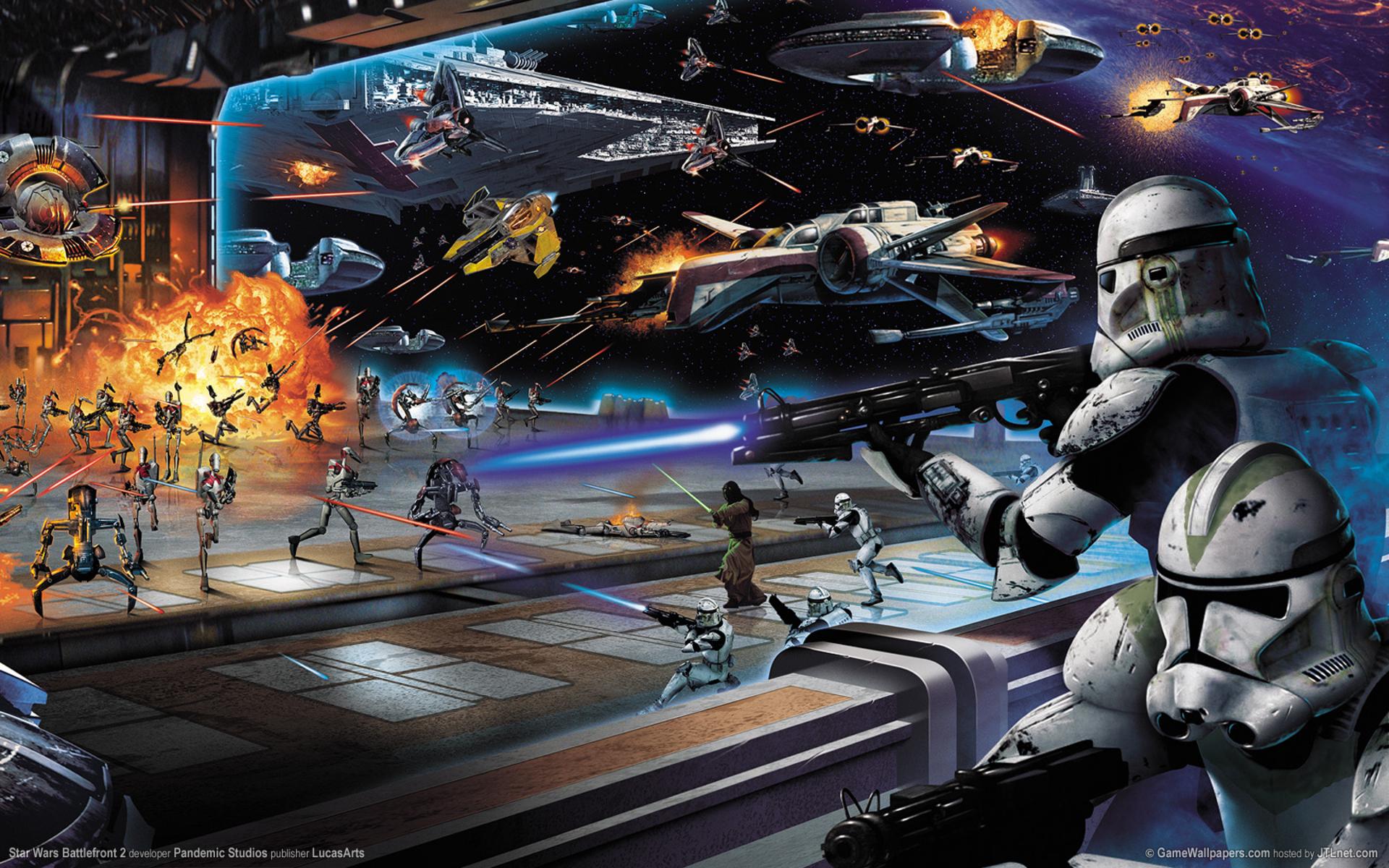 Star Wars Life or Death Battle on a republic cruiser HD Wallpaper 1920x1200