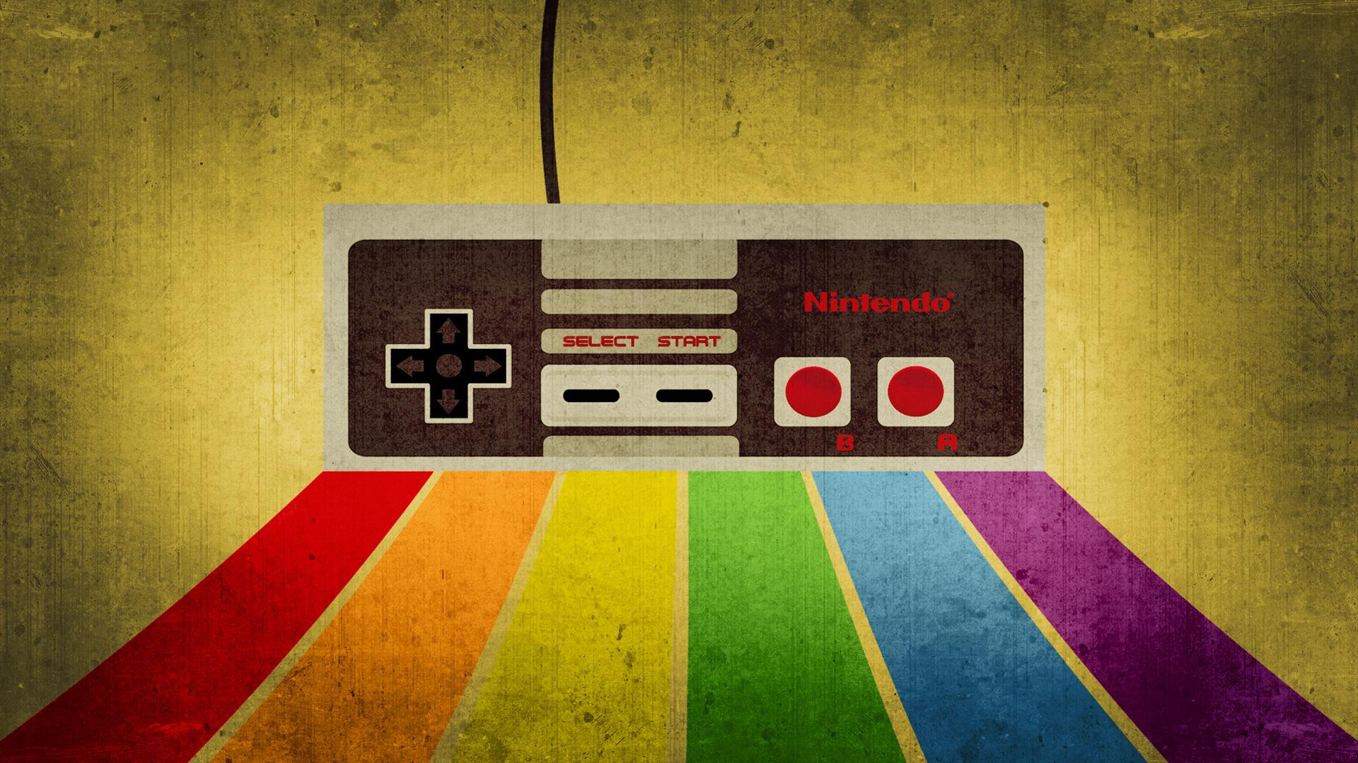 Nintendo Retro Gaming HD Wallpaper 1920x1080
