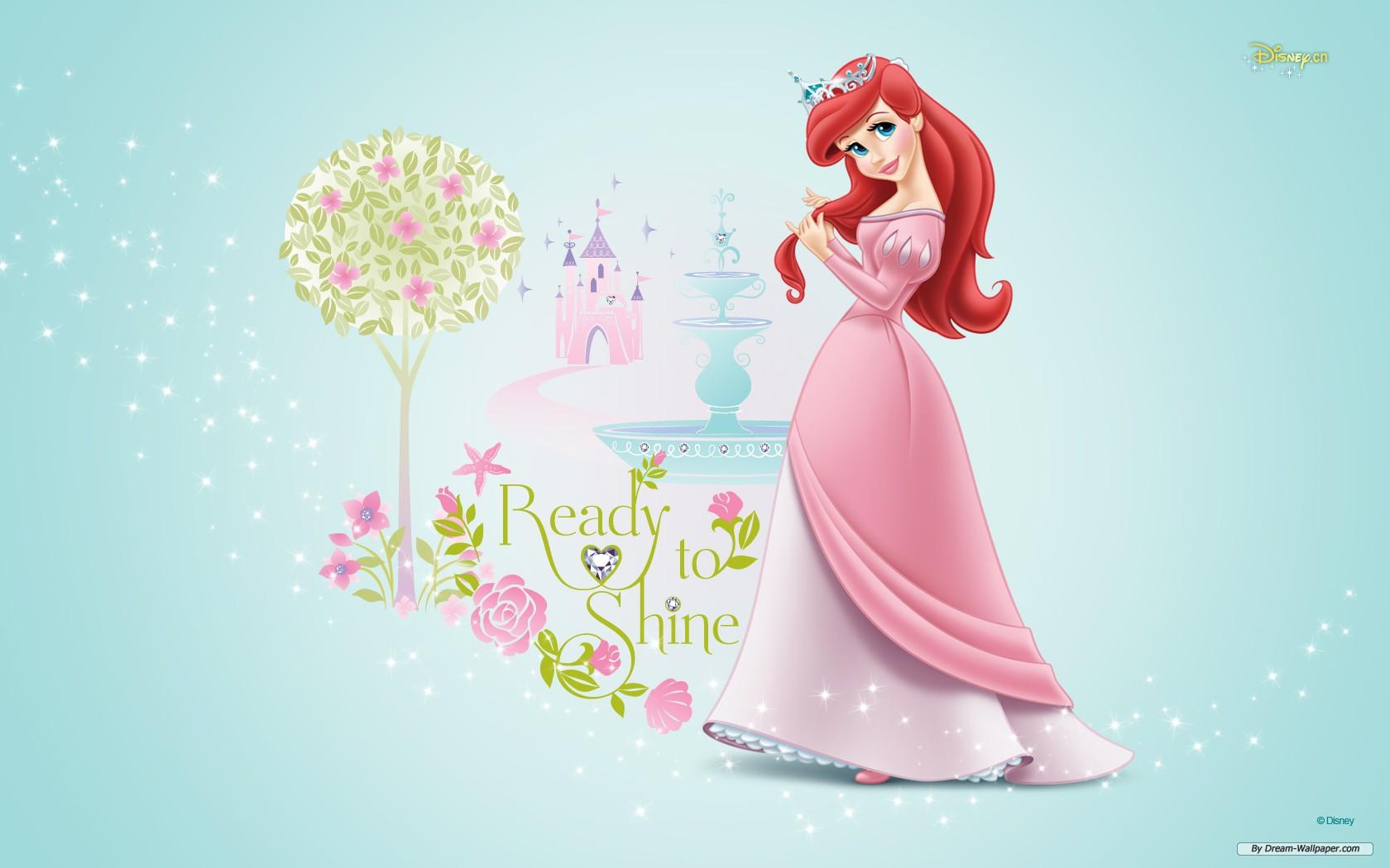 Disney Princess Ariel Pink 1680x1050