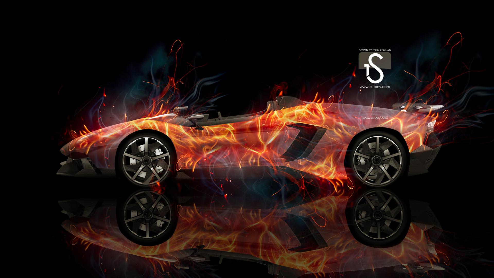 Download Lamborghini Aventador J Fire Photoshop Car 1920x1080 Wwwel