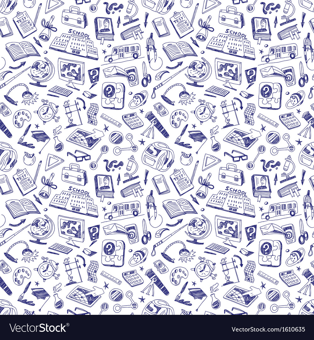 School education   seamless background Royalty Vector 1000x1080
