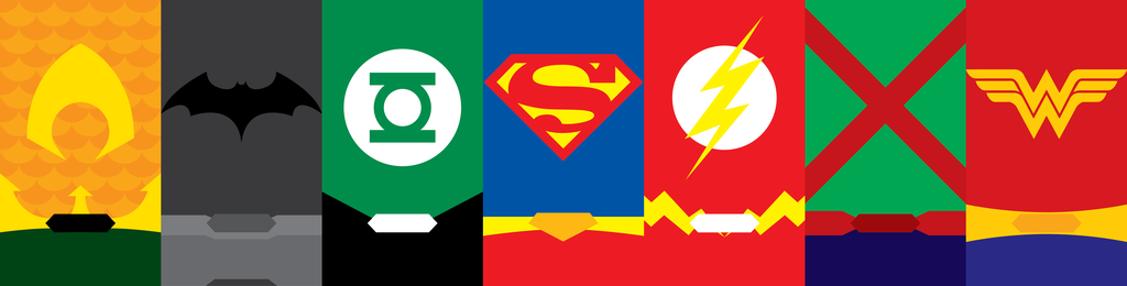 Justice League Phone Backgrounds by UrLogicFails 1024x260