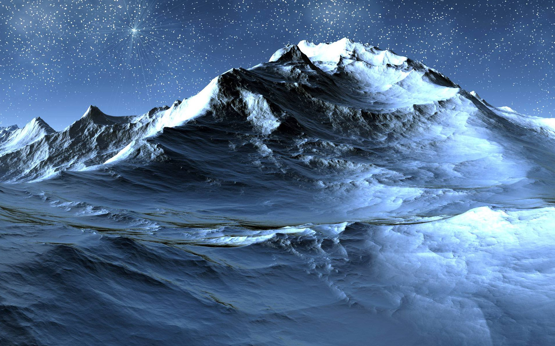 Superbe Icy Mountain Desktop Wallpaper 1920x1200
