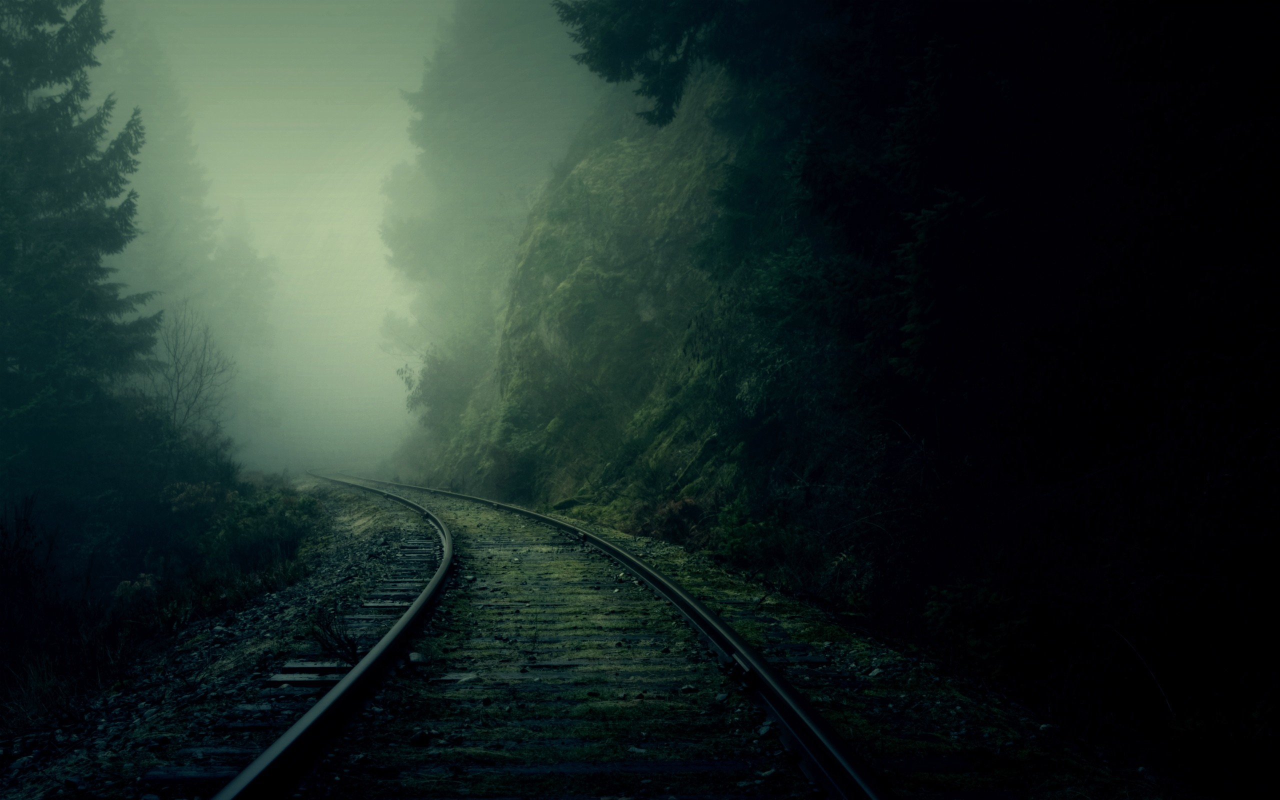 Dark Railroad Landscape Wallpaper HD 1962 Wallpaper High Resolution 2560x1600
