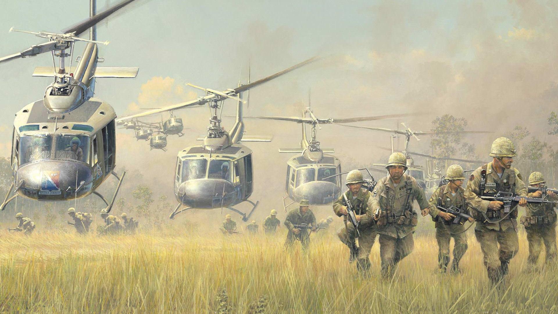 Download war iroquois landing huey vietnam bell wallpaper 1920x1080