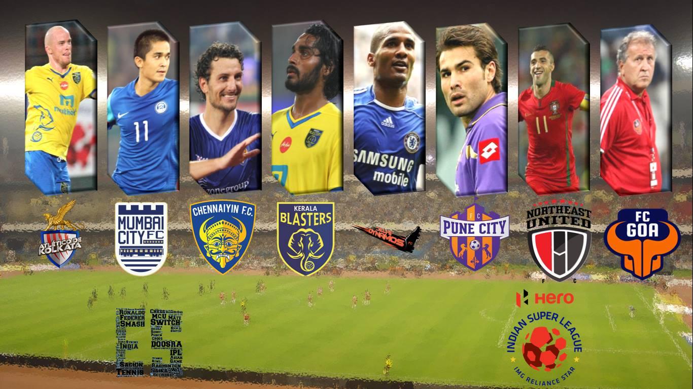 Kerala Blasters Fc Logo Wallpaper   Indian Super League Football 1366x768