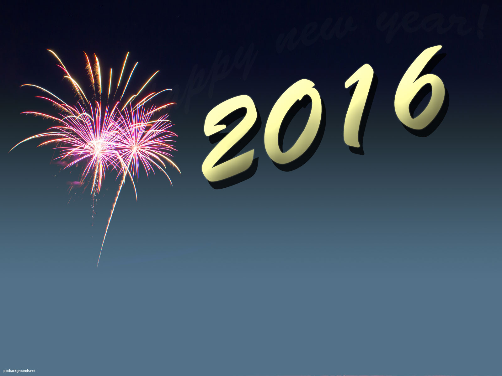 New Year 2016 Backgrounds For PowerPoint   Holiday PPT Templates 1600x1200