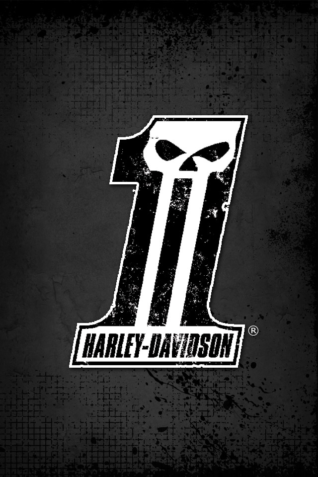 Dark Custom Wallpaper Harley Davidson USA 640x960