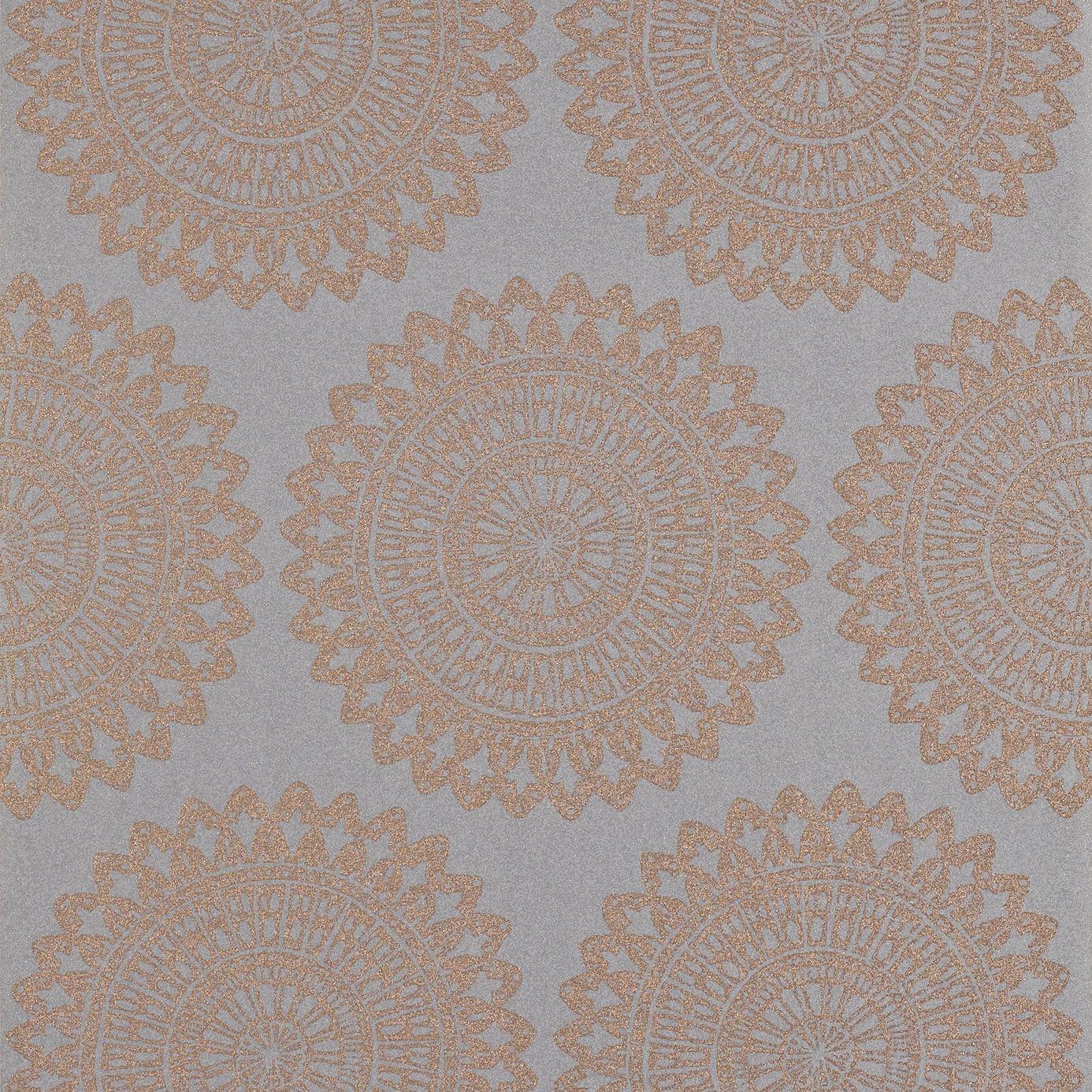 Copper Grey   110628   Medina   Leonida   Harlequin Wallpaper 1386x1386