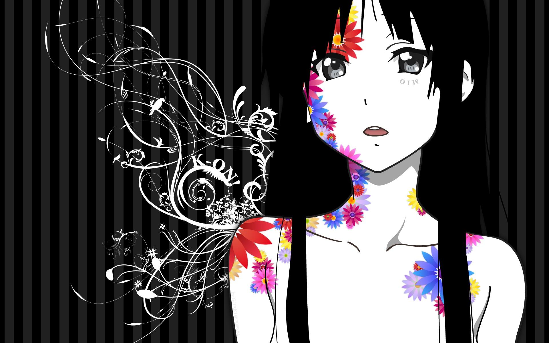 You Are Viewing K On Akiyama Mio Kon Hd Wallpaper Color Palette 1920x1200