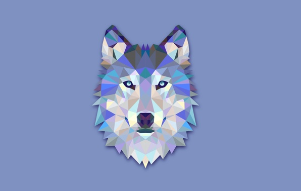 The wolfs head abstraction wolf minimalism light background 596x380