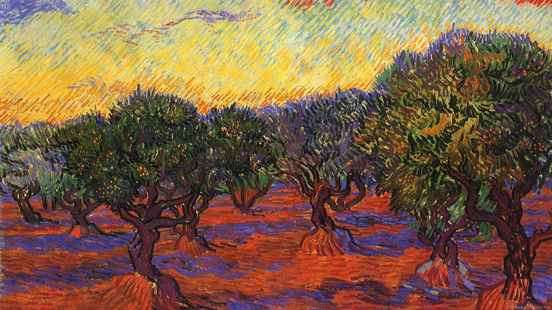 van Gogh Wallpapers HD Wallpaper Paintings Backgrounds Vincent van 1920x1080