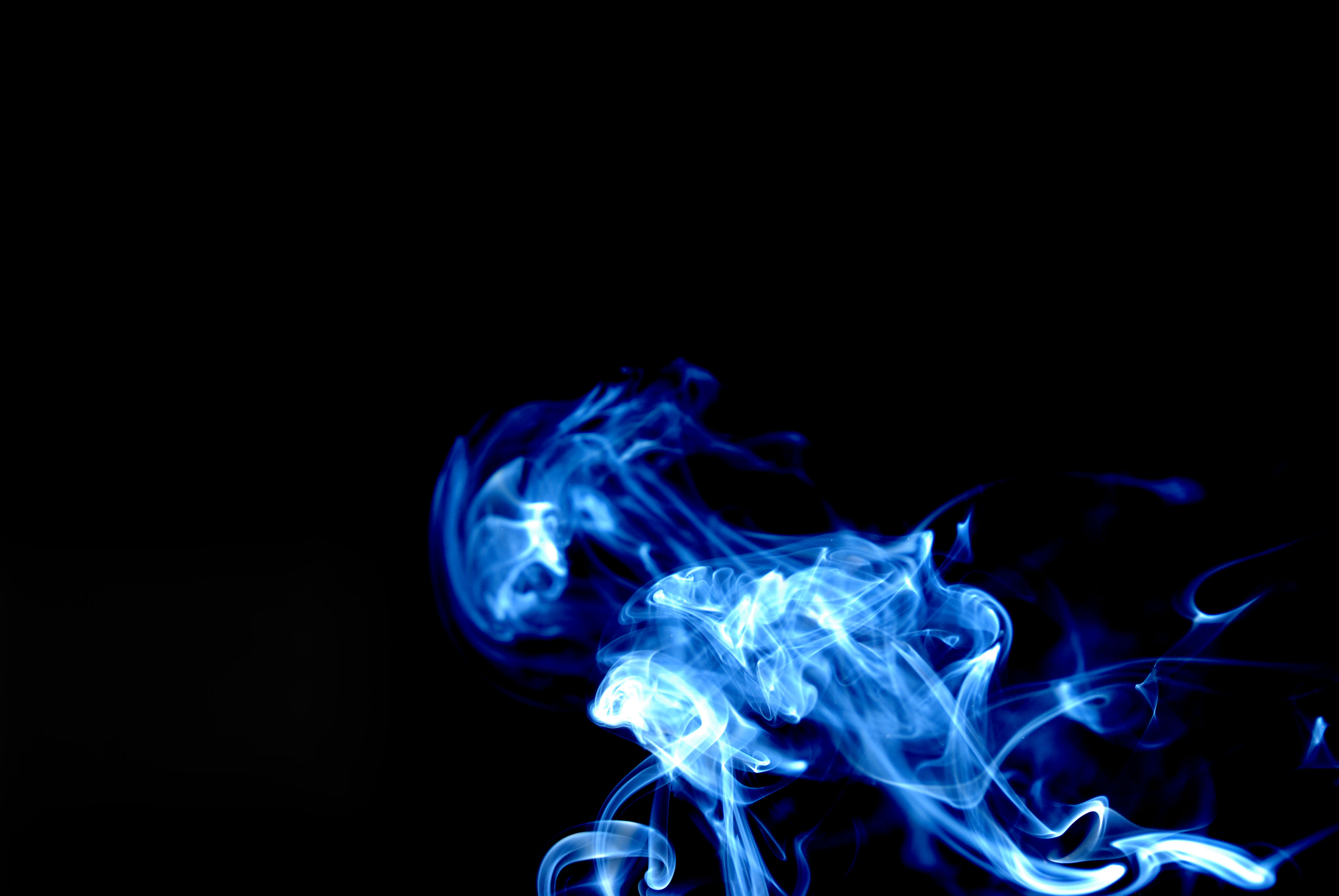 34 Abstract Desktop Wallpapers   754534 Blue Smoke Wallpaper 3872x2592