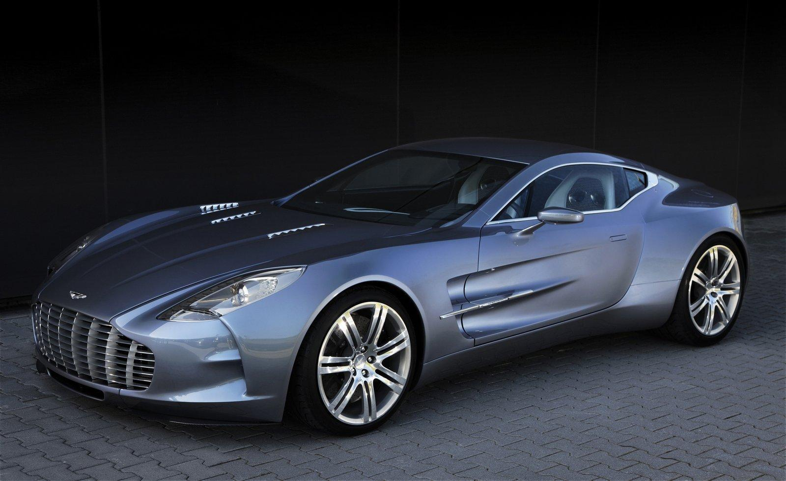 Blue metallic Aston Martin one 77 wallpapers and images   wallpapers 1600x979