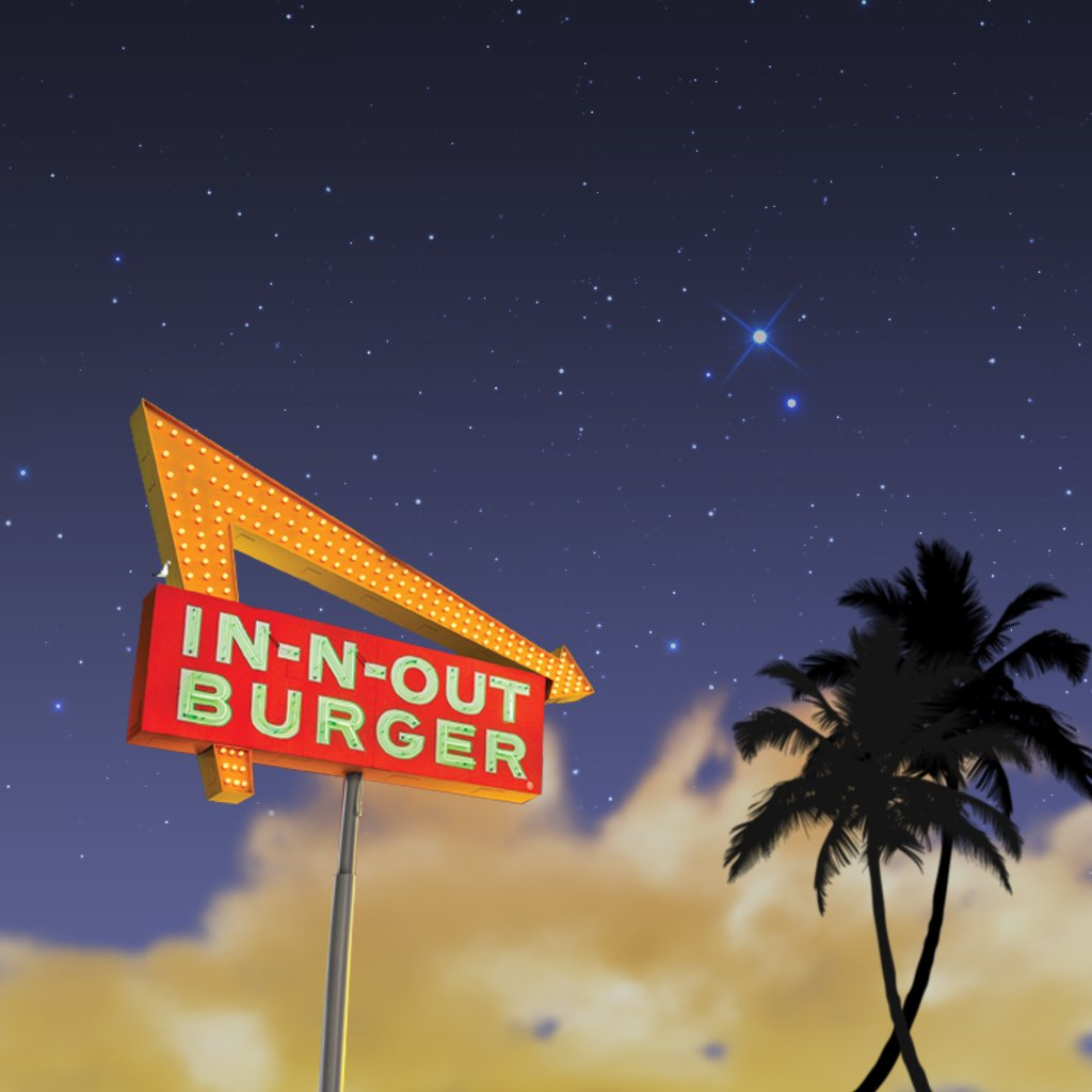 Download Wallpaper   Crossed Palms   iPad   In N Out Burger 1024x1024
