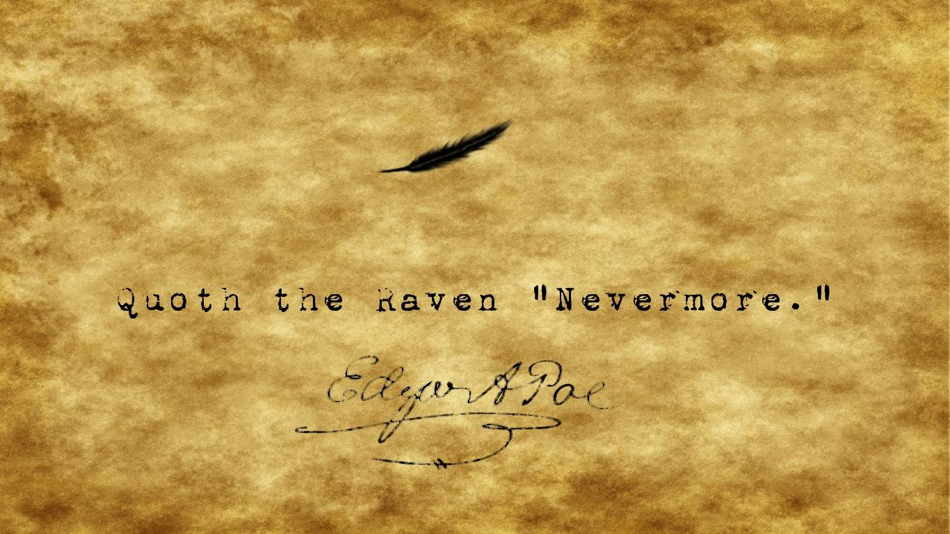 The Raven Wallpaper 10   Edgar Allan Poe Wallpaper 1366x768