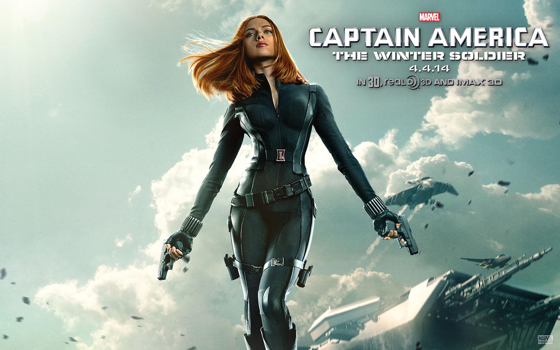 America The Winter Soldier Black Widow HD Wallpaper designboltscom 1920x1200