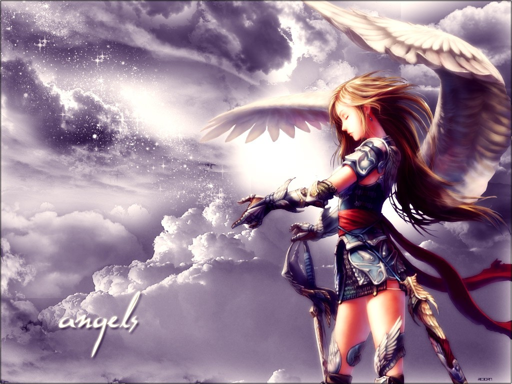 Wallpaper Angel anime Wallpapers Wallpaper HD 1024x768