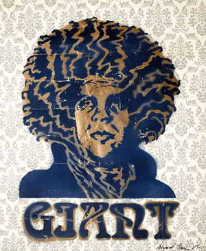 Andre Hendrix Stencil on Wallpaper   The Giant The 300x366
