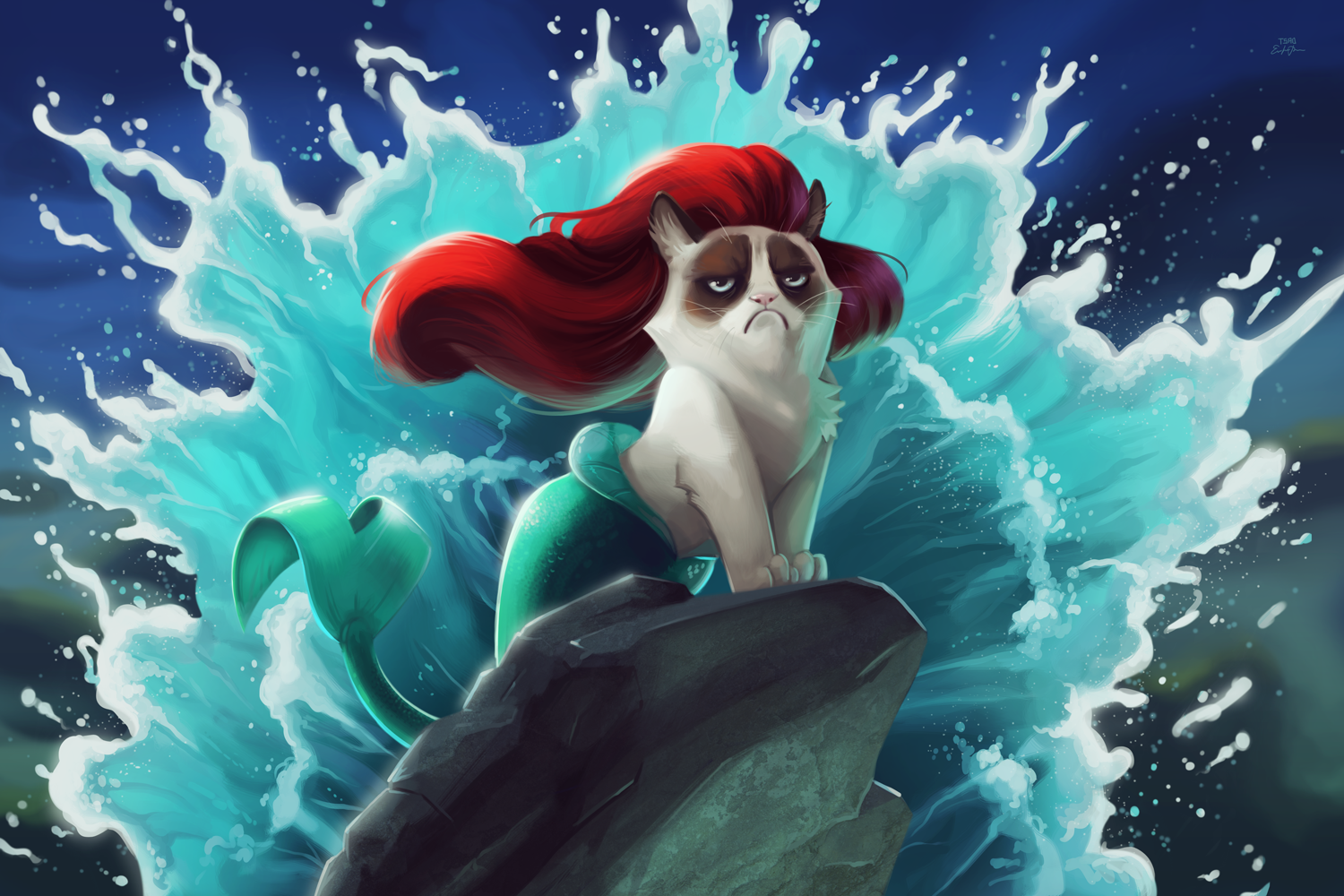 This is What Happens When You Mix Grumpy Cat and Disney Films 1500x1000