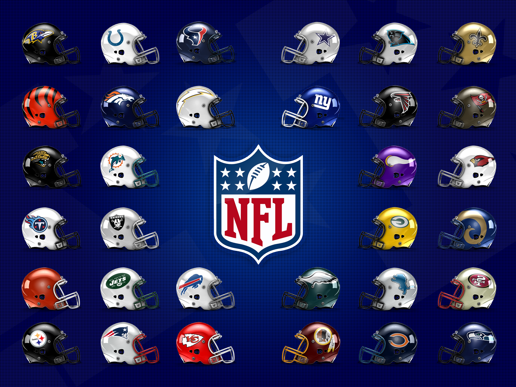 NFL Helmet Poster by SpaceDyeDesigns 1728x1296