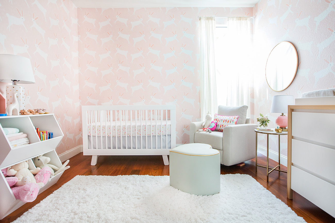 A Pink Bunny Nursery with Target Emily Henderson   Green Wedding 1300x866