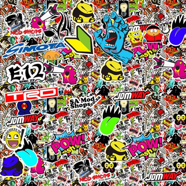Jdm Sticker Bomb Wallpaper Wallpapersafari