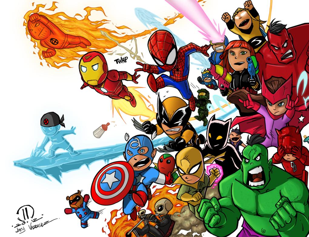 49 avengers cartoon wallpaper on wallpapersafari - Avengers superhero wallpaper ...