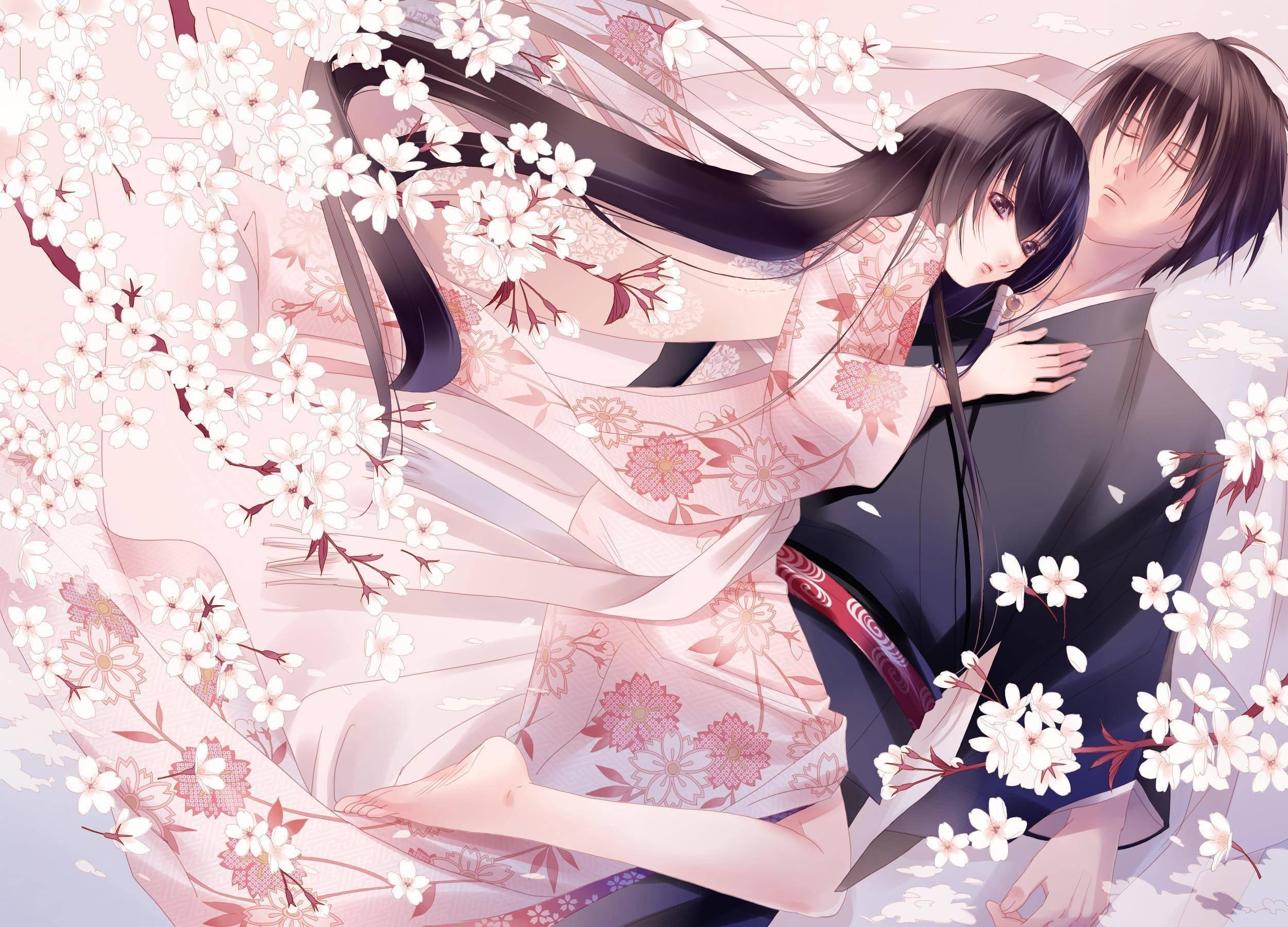 Wallpaper Anime Couple Wallpapersafari
